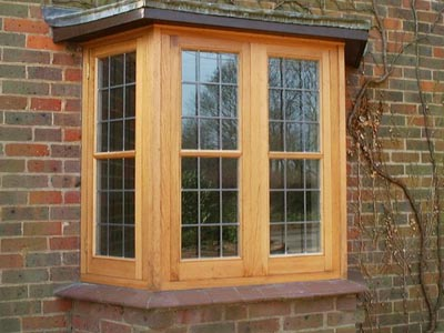 oak replacement bay window
