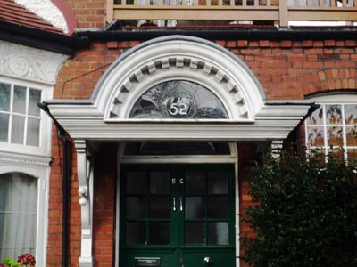 curved joinery portico