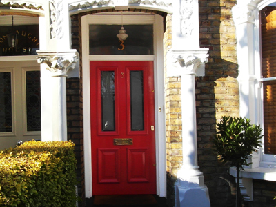 arched oak door & B Murphy Joinery wooden window frame makers in North London